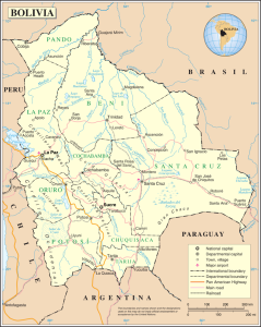 Un Map of Bolivia