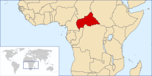 Map of Central African Republic via Cellular News