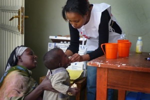 Medecins Sans Frontieres provides outpatient nutrition in Ethiopia