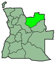 Lunda Norte Province in Angola via wikipedia