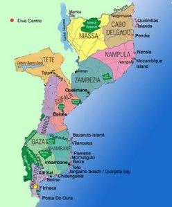 Mozambique Province Map