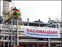 Soldiers Securing Gas Facilities and hanging Celebratory Banners via BBC