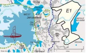 E1 area of Jerusalem, Ma'aleh Adumim image by PASSIA via IMEMC