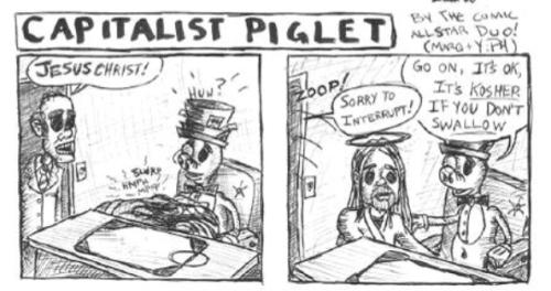Defamation of Christianity Cartoon via smalldeadanimals