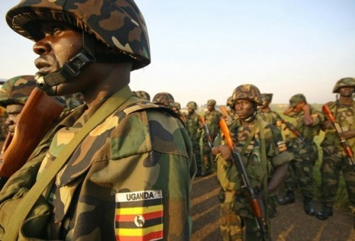 Ugandan Soldiers of the AU Peacekeeping mission to Somalia via Getty