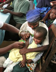 Photo: Ann Weru/IRIN Child gets immunised against measles, which is more widespread this year in Burkina Faso than it has been for more than 10 years (file photo) via irin