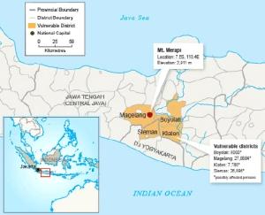 Merapi Volcano via Lombokmarine