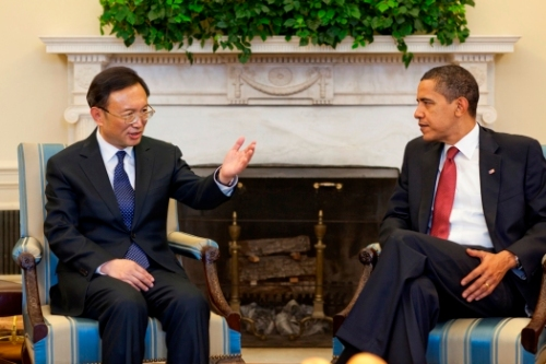 US President Obama and Chinese Foreign Minister Yang Jiechi