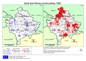 Serb and Roma Population 1991 via kosovo.net
