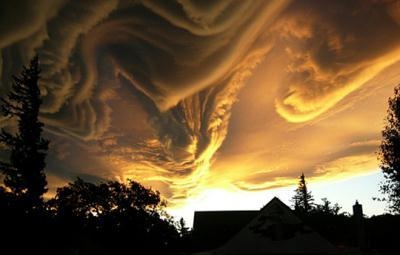 Stunning but undefined: The clouds loom over the skies of New Zealand but unfortunately words cant describe this dramatic vision from the heavens.
