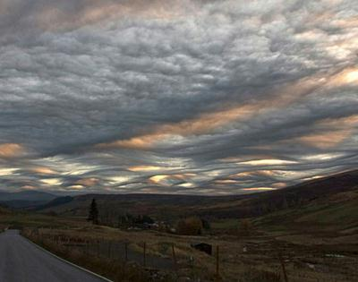 Skies over Scotland: This scene from Perthshire could help confirm